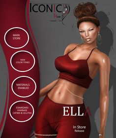 https://flic.kr/p/SseQdJ   ICONIC:ELLA   Releasing today @ The MainStore maps.secondlife.com/secondlife/ICONIC/167/115/31  How to Achieve the Ella Look? Item Details: Outfit: Bombshells By Cynful- Releasing @ C88  Skin: Meghindos Anna  @ Meghindos  Hairbase: ICONIC Standard Hair: ICONIC Ella Makeup: Slay @ Studio Exposure Earrings: Rio Hoops @ Maxi Gossamer Nails: Ballerina Bento  @Formanails Heels: Donatella Sandals  @ Ricielli (Not shown in advertisement photo.)