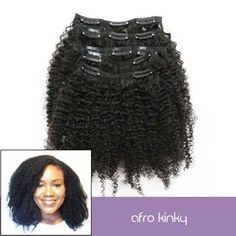 4A Afro Kinky Curly Clip In Hair Extensions