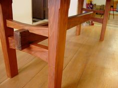 Redwood Table with Japanese Joinery