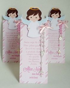 No photo description available. First Communion Cards, First Communion Favors, Communion Invitations, Baptism Favors, Baptism Party, Teachers Day Card, Baby Girl Baptism, Kirchen, Holidays And Events