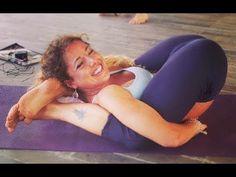 Behind naked yoga head feet