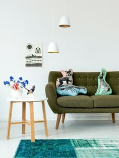 the sofa in turquoise please!