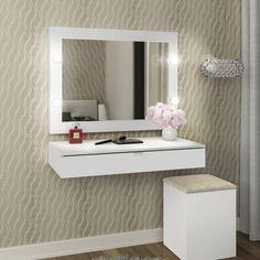 Modern Home Decor Interior Design Bedroom End Tables, Room Ideas Bedroom, Small Room Bedroom, Bedroom Decor, Easy Home Decor, Cheap Home Decor, Make Up Tisch, Pinterest Room Decor, Vanity Room