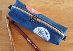 Denim make-up bag or Pencil Case Tutorial DIY