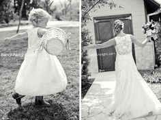 The flower girl looks like the bride at that age. Intentional? <3  10a-riven-rock-ranch-wedding-ceremony-reception-comfort-texas-tx-cowboy-boots-bride