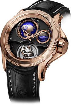 Cecil Purnell Watch Complications World Time Bi-Axial Tourbillon