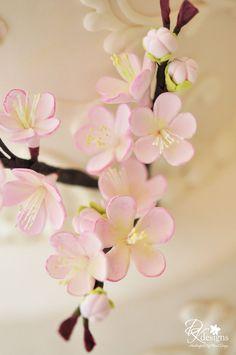 Gum-paste Cherry Blossoms