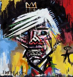 Broken art by Jean-Michel Basquiat. Jean-Michel Basquiat, the most famous and expensive black artist. Jean Basquiat, Jean Michel Basquiat Art, Basquiat Paintings, Warhol Paintings, Great Paintings, Oil Paintings, Andy Warhol Artwork, Skull Painting, Painting Art