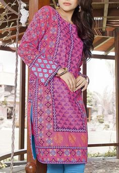 Pink Special function Embroidered Kurti