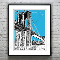Hey, I found this really awesome Etsy listing at https://www.etsy.com/listing/152014598/brooklyn-bridge-poster-art-print-new