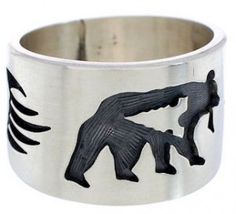 Excellent craftsmanship is shown throughout this amazing ring! This piece of Native American jewelry is Hopi overlay ......Price - $111.99-OdgBrtUr