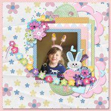 Bunny Love 12x12 Layout Templates