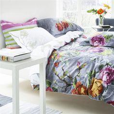 Tulipani Graphite Bed Linen   Designers Guild