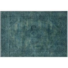 """Check out this item at One Kings Lane! 7'6""""x10'6"""" Medlin Flat-Weave Rug, Turquo"""