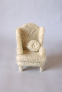 """""""Chair"""" By Holiday Campanella Needle Felting - Felted Sculpture"""