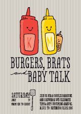 Burgers N'Brats Baby Shower Invitation