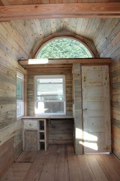 This has to be one of the best tiny house windows I've ever seen! love it!