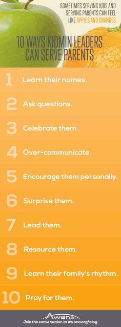 10 Ways #KidMin Leaders Can Serve Parents   Brannon Marshall   Awana blog