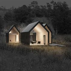 Micro cluster cabins by reiulf ramstad arkitekter tiny house design, modern tiny house, cabin Architecture Durable, Residential Architecture, Contemporary Architecture, Interior Architecture, Scandinavian Architecture, Beautiful Architecture, Installation Architecture, Pavilion Architecture, Building Architecture