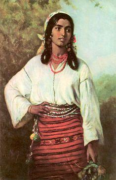 Gipsy Girl  Theodor Aman - 1884  National Gallery, Bucharest #aman #theodoraman #romania #art #painting