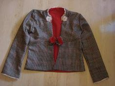DIY tutorial clothes / DIY check jacket - DIY Fashion Refashion bead and cord: DIY check jacket . Diy Clothes Rack, Diy Clothes Refashion, Diy Clothing, Barbie Clothes, Sewing Clothes, Outfits For Teens, Cool Outfits, How To Make Jeans, Kimono
