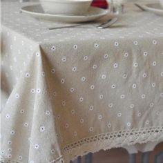 Aliexpress.com: Comprar Ropa de algodón de encaje mantel margarita de lino pastoral mantel mesa de comedor mesa de escritorio cubierta de toallas buyi 303 de toalla proveedor fiable proveedores en Luzous. House