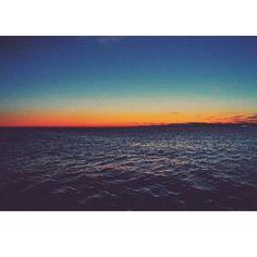 Adriatic sea/Jadran [© Instagram User: @polaroidgirlmaja] #sunset #Trieste #TriesteSocial #Italy