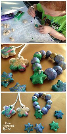 How to make salt dough gifts #preschool