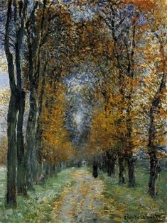 The Avenue by Claude Monet