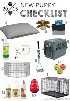 This shopping + tip list is so helpful if your preparing for a new puppy…