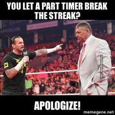 EXACTLY Yeah Vince Brock did not deserve to end the streak