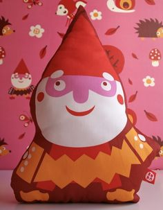 Bora Design, gnome, accordian, softie, stuffed, plush