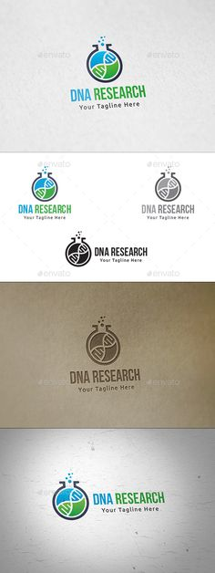 DNA Research - Logo Template