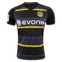 Borussia Dortmund Away 16-17 Cheap Black Soccer Jersey
