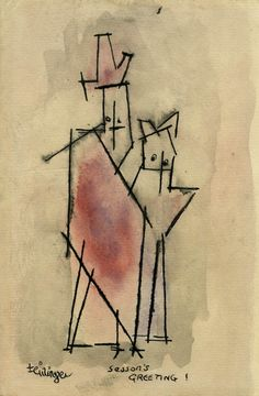 Lyonel Feininger - Ghosties | From a unique collection of abstract drawings and watercolors at http://www.1stdibs.com/art/drawings-watercolor-paintings/abstract-drawings-watercolors/
