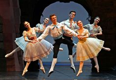 The Royal Danish Ballet -- Napoli.  Years ago, when they came to my area, I got to be one of the kids in Napoli.  Rehearsing with the professional dancers and watching the performance from the wings was always wonderful.