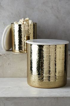 Hammered Borealis Canister #anthropologie
