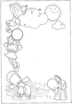 Preschool Coloring Pages, Cute Coloring Pages, Preschool Art, Coloring Sheets, Coloring Books, Page Borders Design, Border Design, Borders For Paper, Borders And Frames