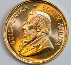 1975 1.0 oz Gold South African Krugerrand coin. UNCIRCULATED !!!