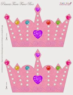 Piece 1 of 2- So Cute Free Printable Crown Box. | Oh My Fiesta! in english