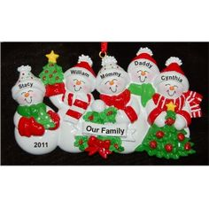 5 - Our Christmas Tree - Personalized Family Christmas Ornament