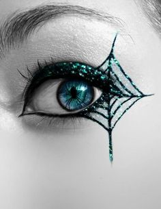 the best halloween witch make up ideas spider web eye accent