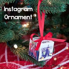 Bits Of Everything: Homemade Instagram Ornament
