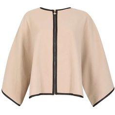 ** Izabel London Beige Jacket ($45) ❤ liked on Polyvore featuring outerwear, jackets, white and izabel london
