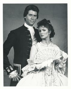"""Barry Bostwick and Jaclyn Smith in """"George Washington""""."""