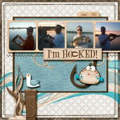 Fishing - digital scrapbooking - gallery - upload your scrapbook pages and layouts
