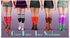 Annett's Sims3 Welt: Over Knee - Lace Stockings