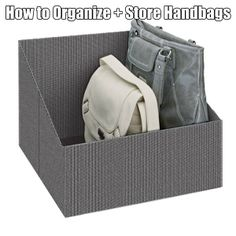 How to organize and store your purses and handbags #handbags #homestoragesolutions