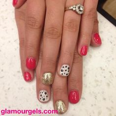 Another fun color combo for Spring! #glamourgels #spring #gelnails