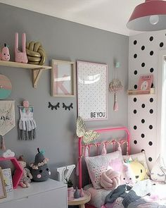 Looking for inspiration to decorate your daughter's room? Check out these Adorable, creative and fun girls' bedroom ideas. room decoration, a baby girl room decor, 5 yr old girl room decor. Shabby Chic Toddler Room, Shabby Chic Bedrooms, Boys Bedroom Colors, Girls Room Design, Nursery Design, Toddler Rooms, Toddler Girls, Little Girl Rooms, Little Girls Room Decorating Ideas Toddler